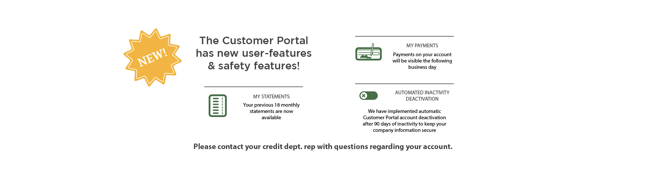 Customer Portal New Features